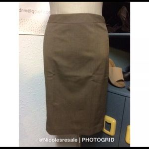 Lafayette 148 Tan Wool Pencil Skirt